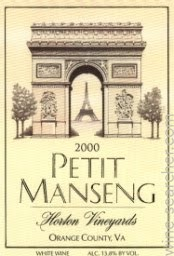 Product Image for 2016 Petit Manseng