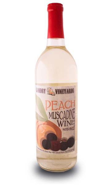Peach Muscadine Wine Semi Sweet From Landry Vineyards Buy Now With