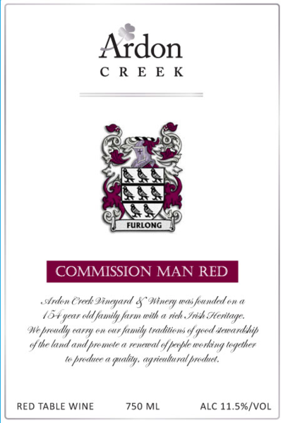 Commission Man (Dry Red) Ships 4/1 - 11/15