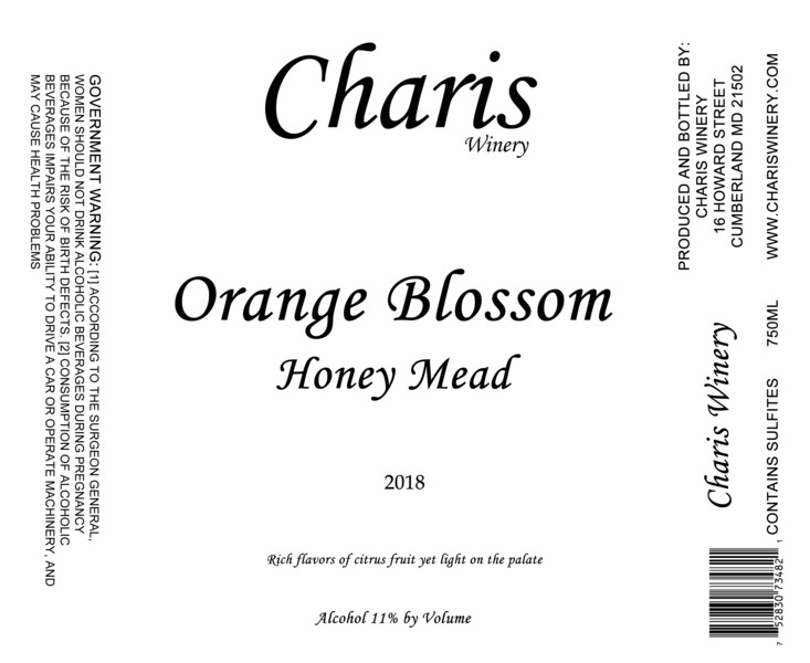 Product Image for 2017 Orange Blossom Honey Mead