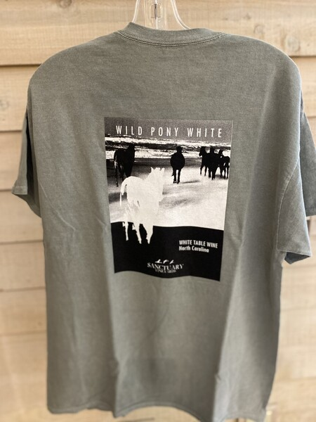 Wild Pony White Tee/Unisex-Large