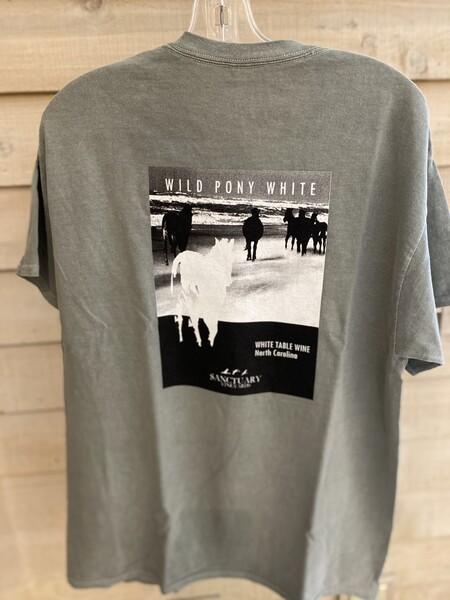 Wild Pony White Tee/Unisex-XLarge
