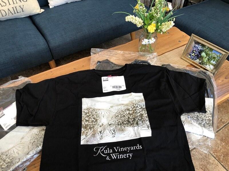 Kula Vineyards label t-shirt