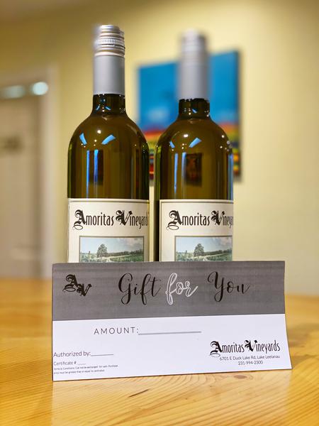 Amoritas Vineyards Gift Certificate ($25)