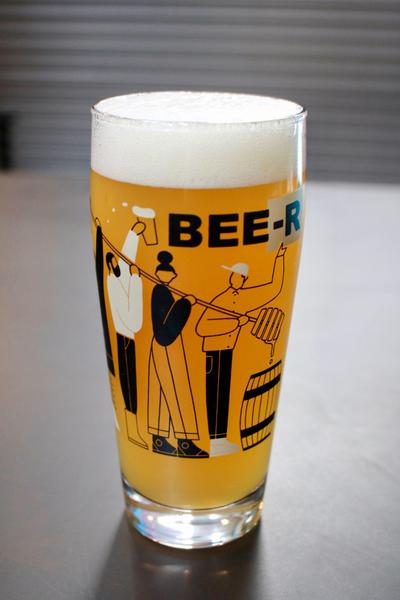Product Image for Limited Edition BEE-R Honey Lager Glass