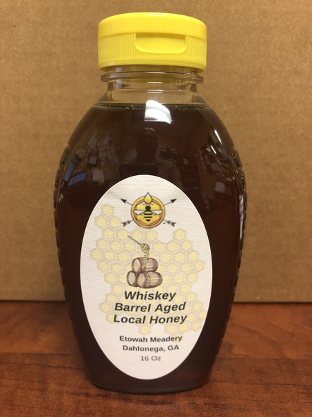 Product Image for 16 oz Whiskey Barrel Aged Honey