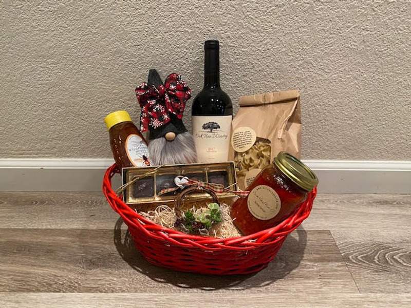 Holiday Gift Basket - Local Small Businesses - Red Wine
