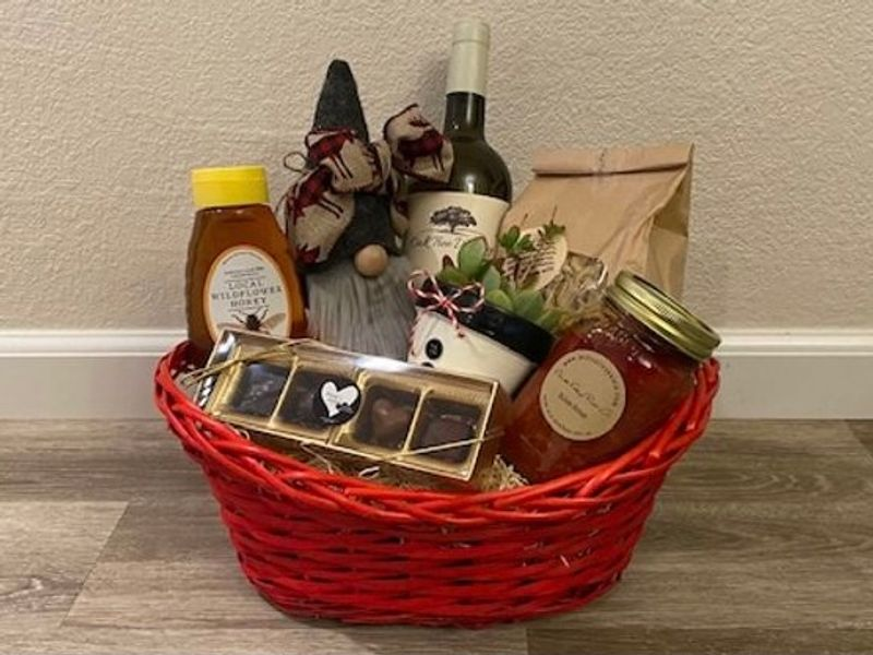 Holiday Gift Basket - Local Small Businesses - White Wine