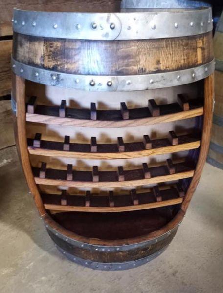 Wine Barrel Wine Rack