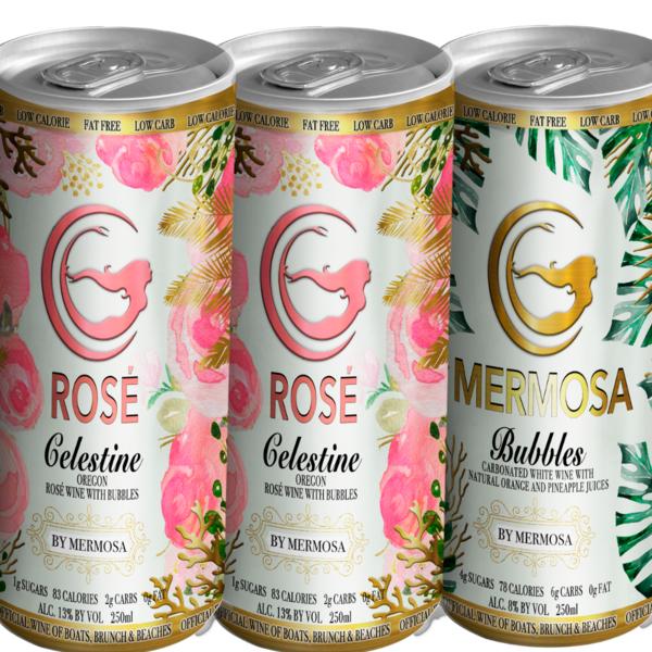 Celestine Rosé (4 cans) + Mermosa Bubbles (2 cans) Combo