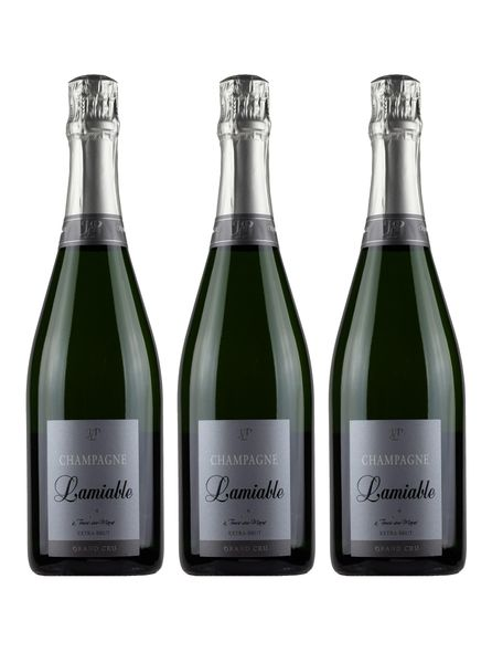 Champagne Lamiable Grand Cru Extra Brut 3-Pack Bundle