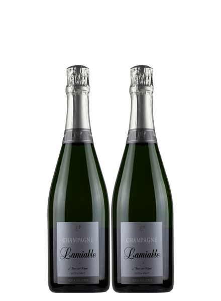 Champagne Lamiable Grand Cru Extra Brut 2-Pack Bundle