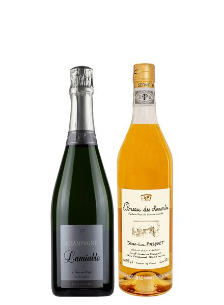 French 2-Pack Cognac Wine and Champagne Bundle