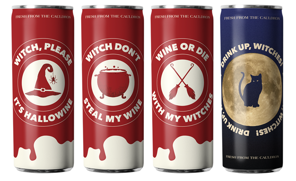 Witch's Brew Rosé + White Wine by Eliqs x Besa - 12 Can Variety Pack