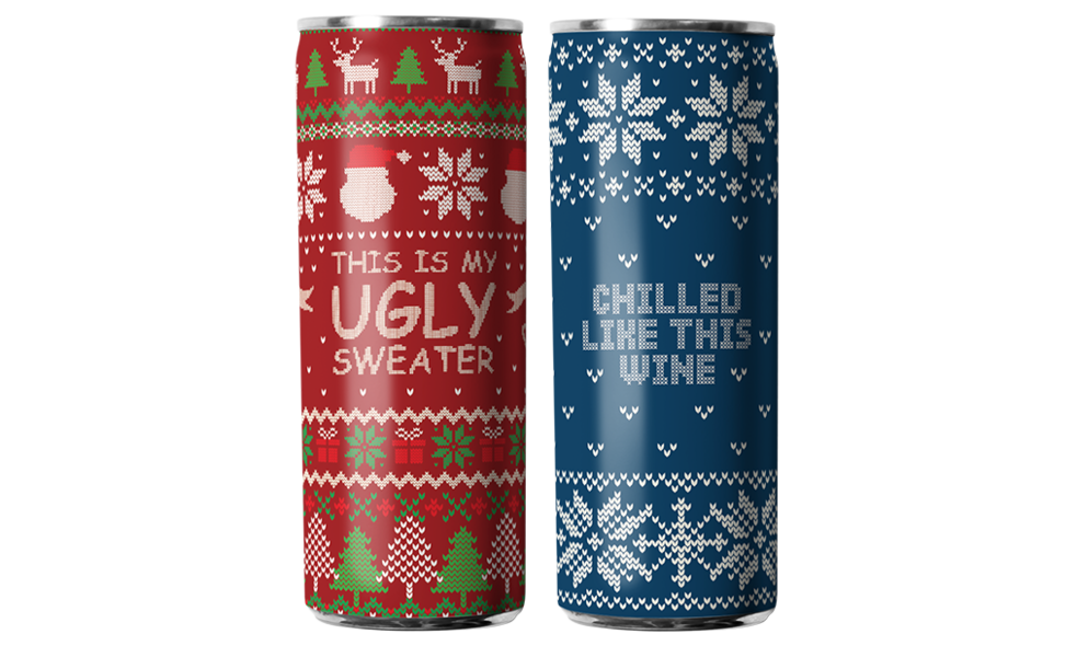 Eliqs Ugly Sweater Wine Variety Pack (12-pack)