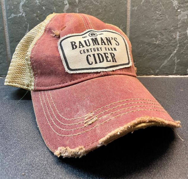 Bauman's Cider Trucker Hat - Red