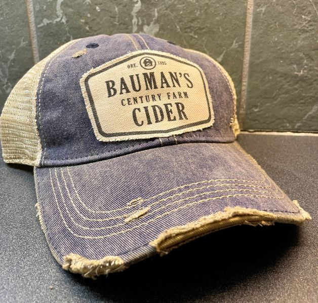 Bauman's Cider Trucker Hat - Blue
