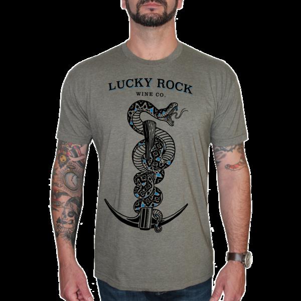 Lucky Rock Graphic Tee-Shirt - Heather Lieutenant