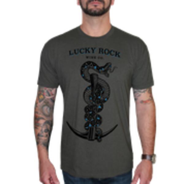 Lucky Rock Graphic Tee-Shirt - Dark Grey