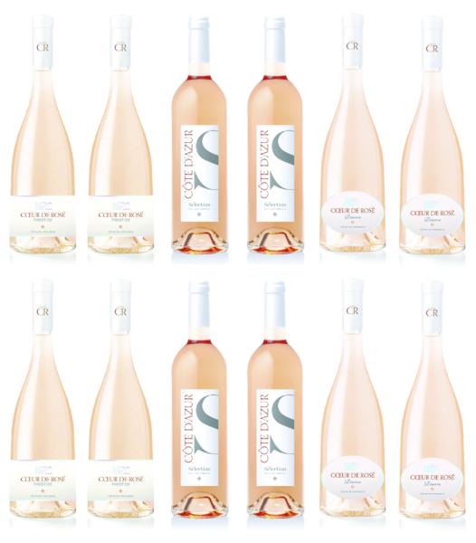 Mixed Full Case - 4 bottles of each rosé (12 bottles/750ML)