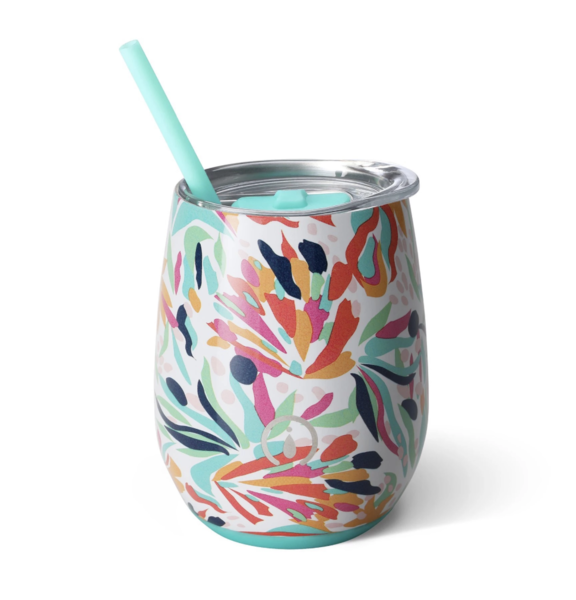Product Image for Wild Flower 14oz Stemless Wine Cup