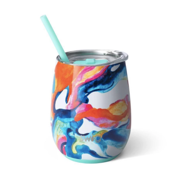 Product Image for Color Swirl 14oz Stemless Wine Cup