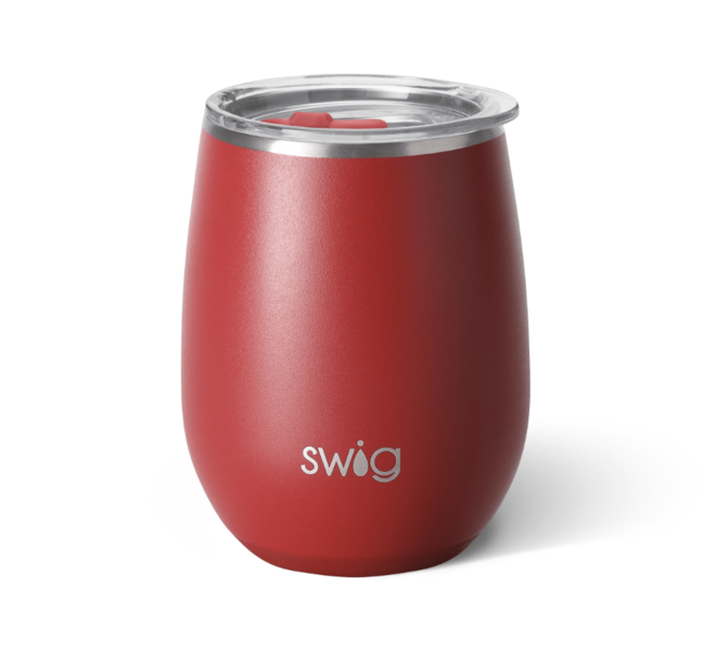 Matte Crimson 14oz Stemless Wine Cup