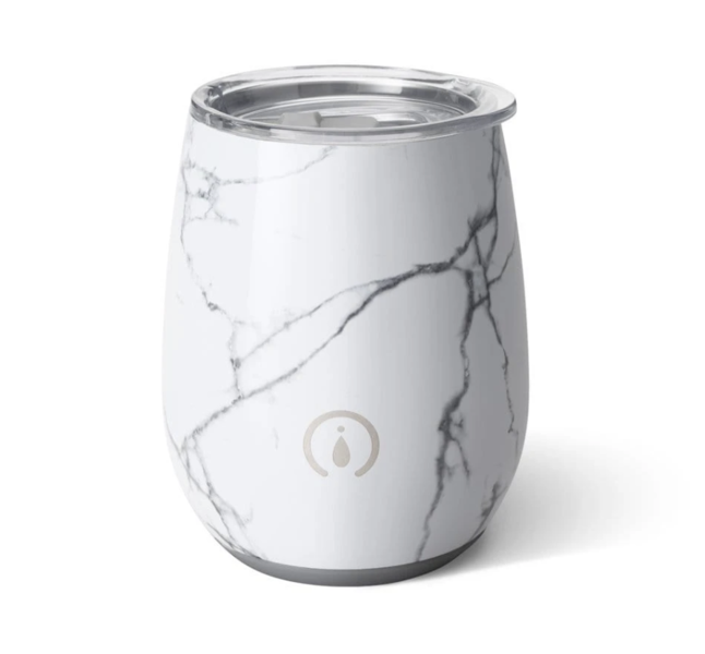 Product Image for Marble 14oz Stemless Wine Cup