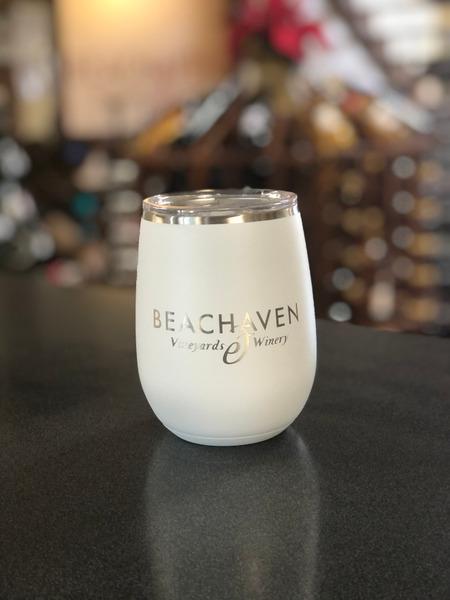 Beachaven Logo Wine Tumbler - White