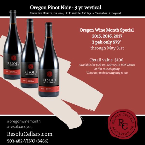 Oregon Pinot Noir - 3 yr Vertical  $79