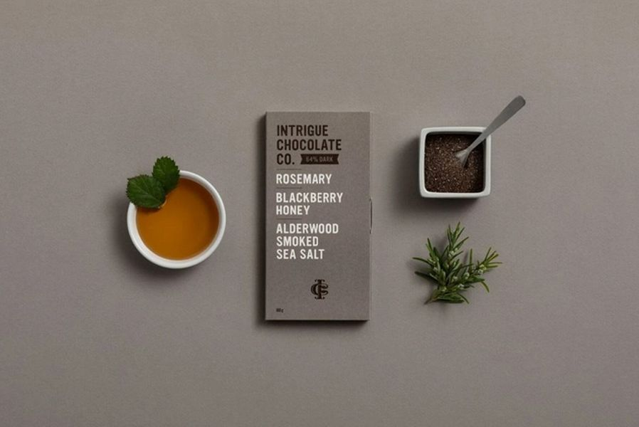 Rosemary, Blackberry Honey, Alderwood Smoked Sea Salt 64% Dark Chocolate Bar