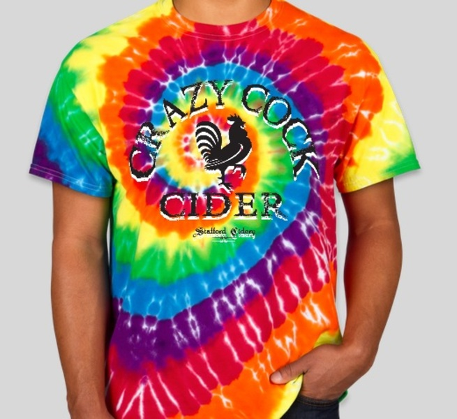 Product Image for Crazy Cock Cider T-shirt Tye Dye available in Small, Medium, Large and Extra Large