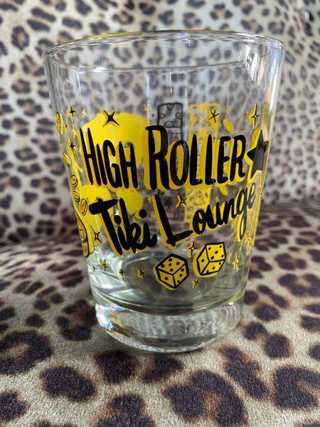High Roller Tiki Lounge Mai Tai Glass Yellow