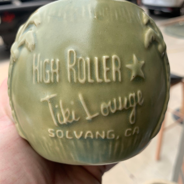 High Roller Logo Coconut Tiki Mug