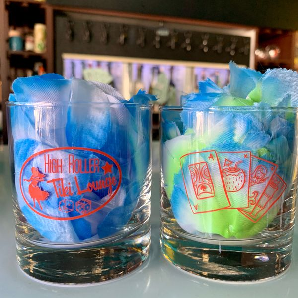 High Roller Tiki Lounge Rocks Glass