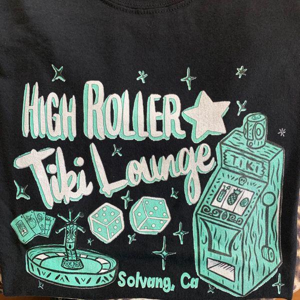 Men's Black High Roller Tiki Lounge Shirt