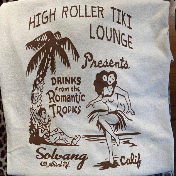 Romantic Tropics Vintage T-Shirt Mens Sand