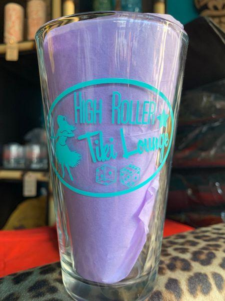 High Roller Tiki Pint Glass