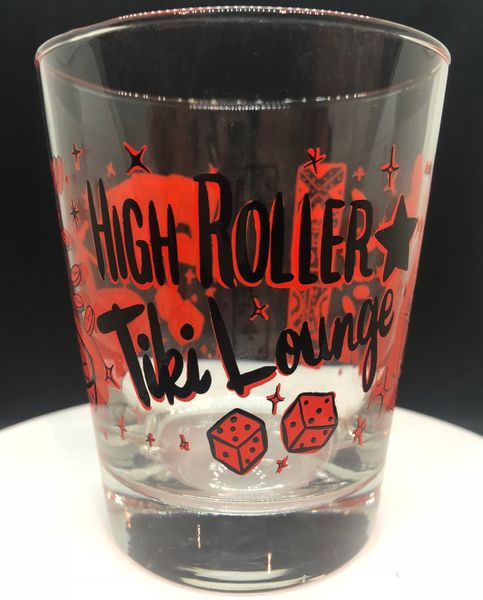 High Roller Tiki Lounge Mai Tai Glass Red