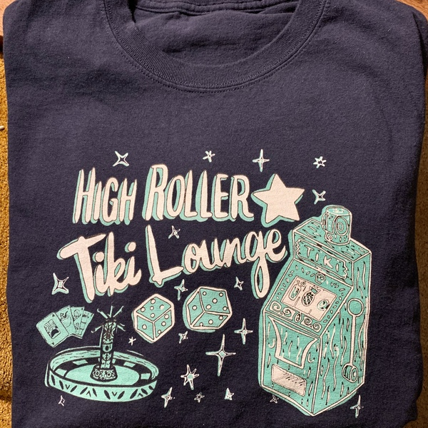 Product Image for NAVY BLUE HIGH ROLLER TIKI LOUNGE T-SHIRT WOMEN'S