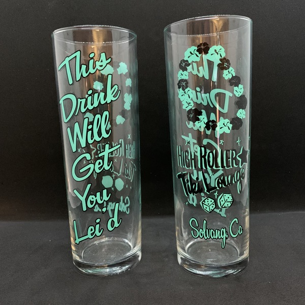 """HIGH ROLLER TIKI LOUNGE """"LEI'D ZOMBIE GLASS"""