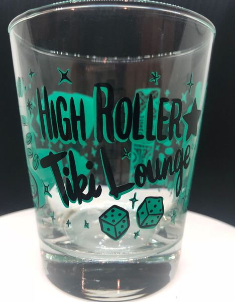 High Roller Tiki Lounge Mai Tai Glass Green