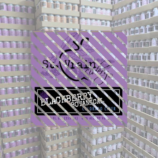 Case of Blackberry Botanical Cider