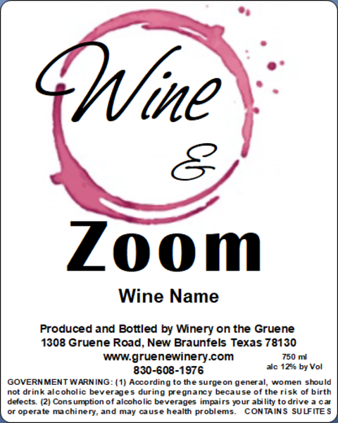 Wine & Zoom - MUST BE PURCHASED WITH WINE