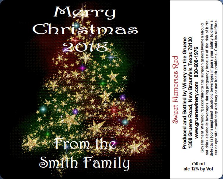 Christmas Label-Holiday Cheer - MUST BE PURCHASED WITH WINE