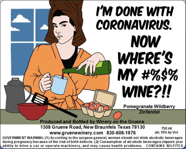 Done with Coronavirus Label - MUST BE PURCHASED WITH WINE