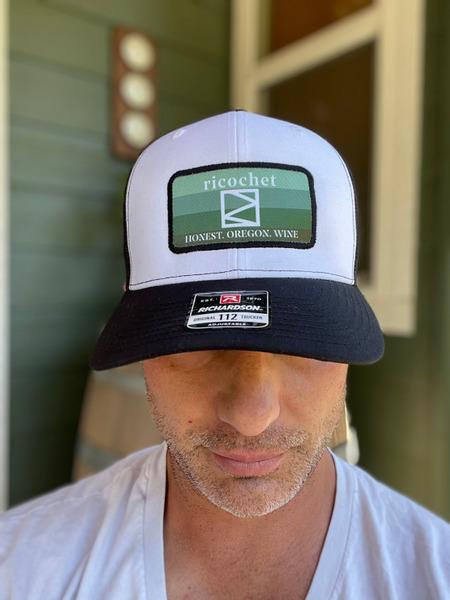 Ricochet Trucker Hat--Black/Green