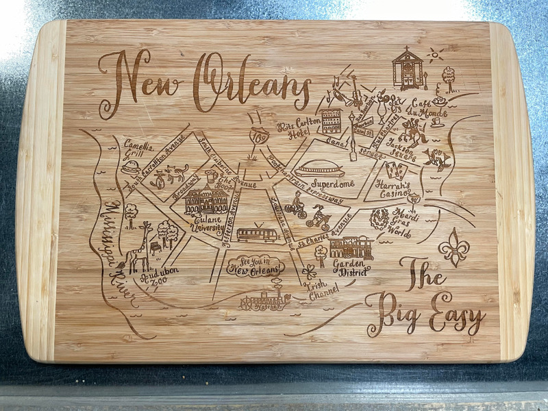 New Orleans Cutting/Charcuterie Board