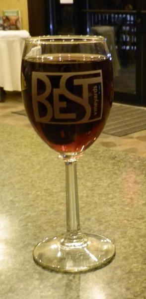 Best Vineyards Logo'd Wine Glass