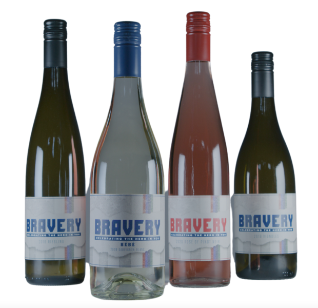 Bravery Wines - 4 Pack - Featuring New 2020 Sauvignon Blanc and 2020 Rose' of Pinot Noir